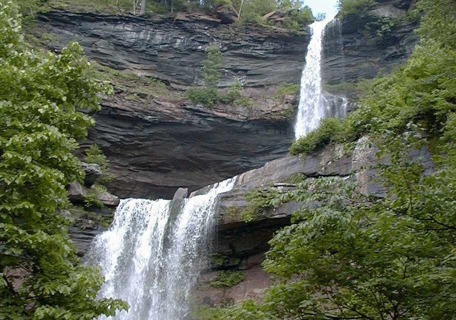 Kaaterskill Falls is a two-stage waterfall on Spruce Creek